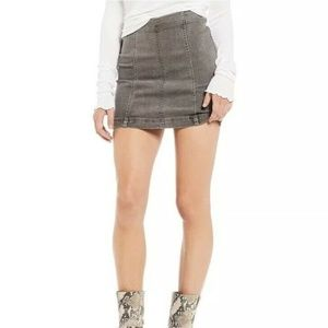 Free People Modern Femme Denim Mini Skirt NWT